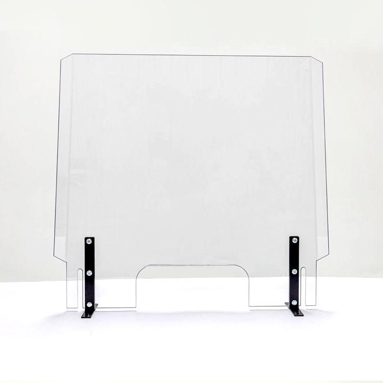 Protective Transparent Cashier Table Shield Assembled Clear Splash Shield Acrylic Sneeze Guard Factory