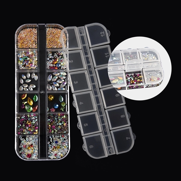 Factory direct sales excellent quality nail rhinestone designs art accessories different colors