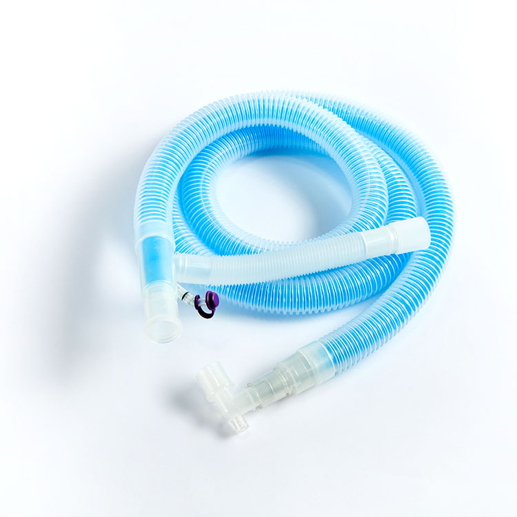 Anesthesia Closed Disposable Silicone Ventilator Breathing Apparatus Circuit Medical Breathing Circuit Manufacturer